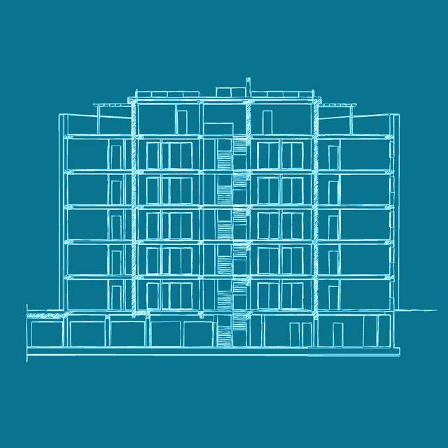 Progetto completo di piantina dello Studio Ingegneria Bologna Loreti per la realizzazione di un'area industriale in Zona Santa Viola