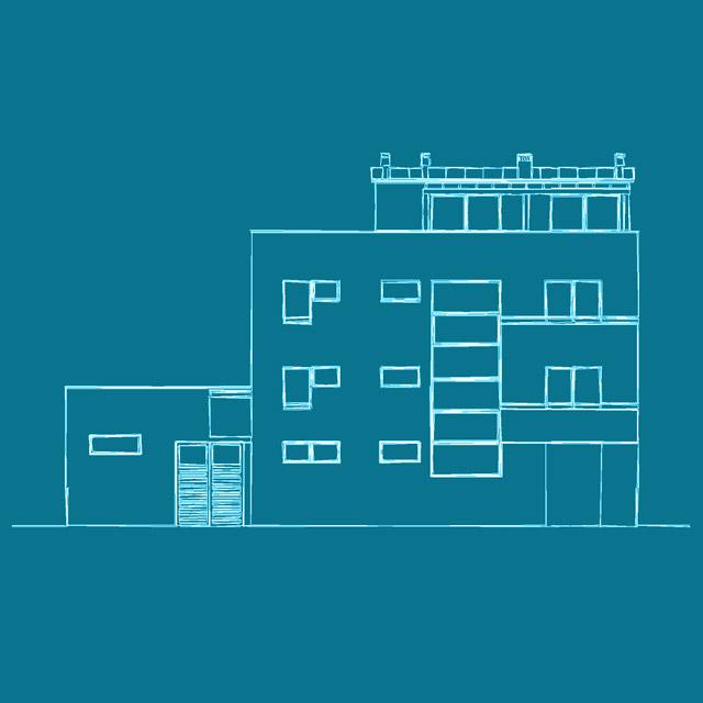 Progetto completo di piantina dello Studio Tecnico Bologna Lorteti per la realizzazione di una palazzina in Zona Barca